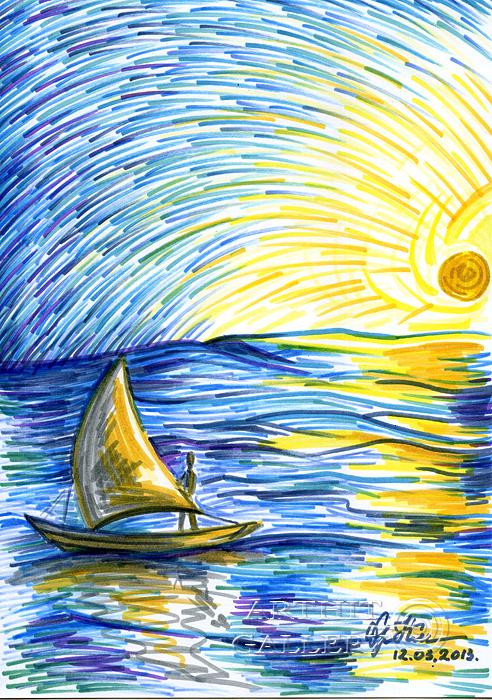 Картинки закат в океане